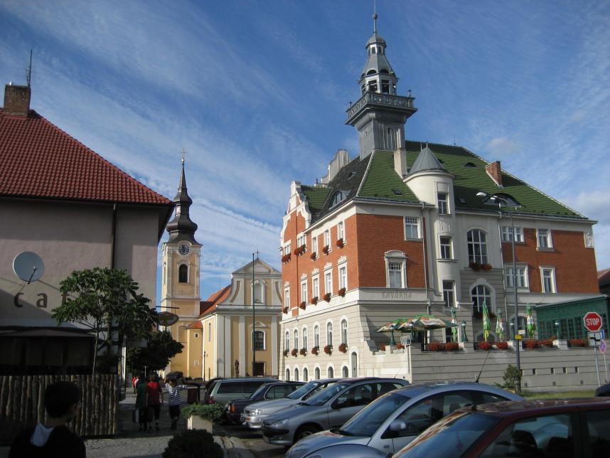 Годонин, центр города