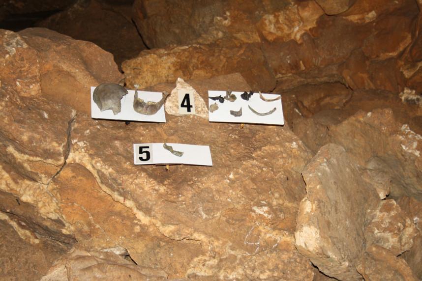 Останки в Конепрусских пещерах