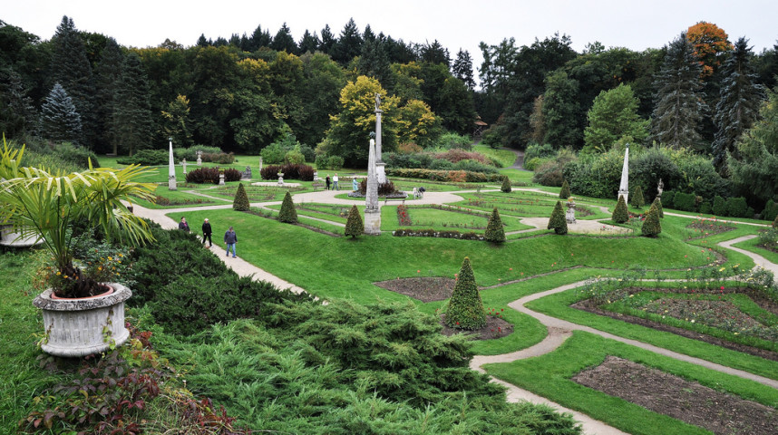 Сад замка Конопиште