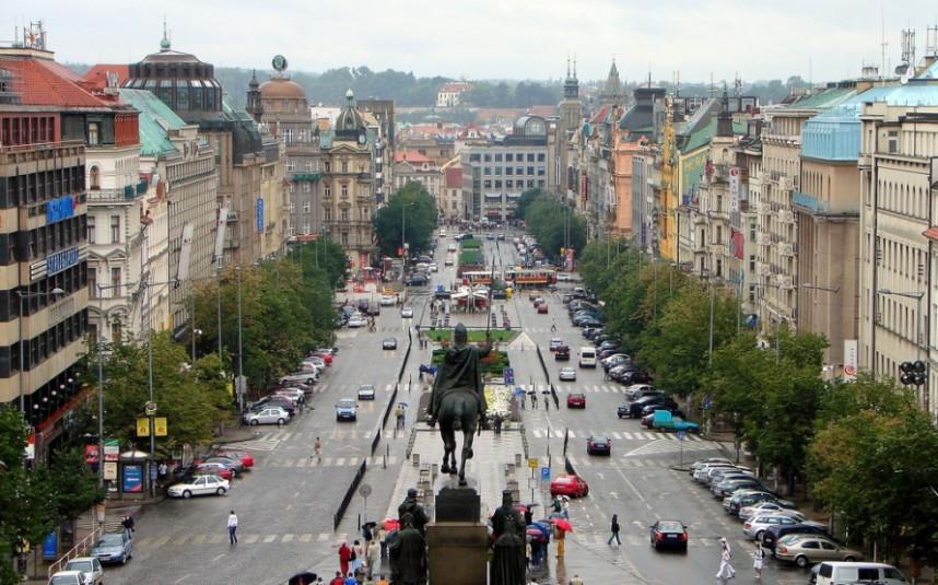 Вацлавская площадь в Праге