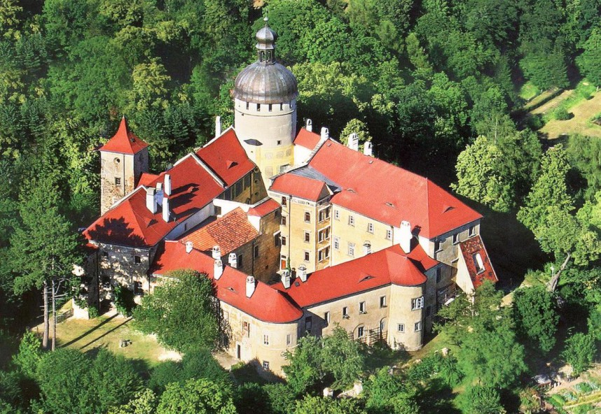 Замок Грабштейн вид сверху