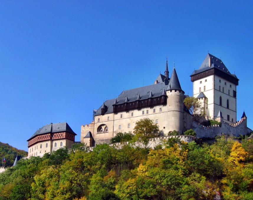 Вид на Замок Карлштейн