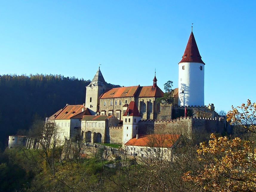 Вид на Замок Кршивоклат