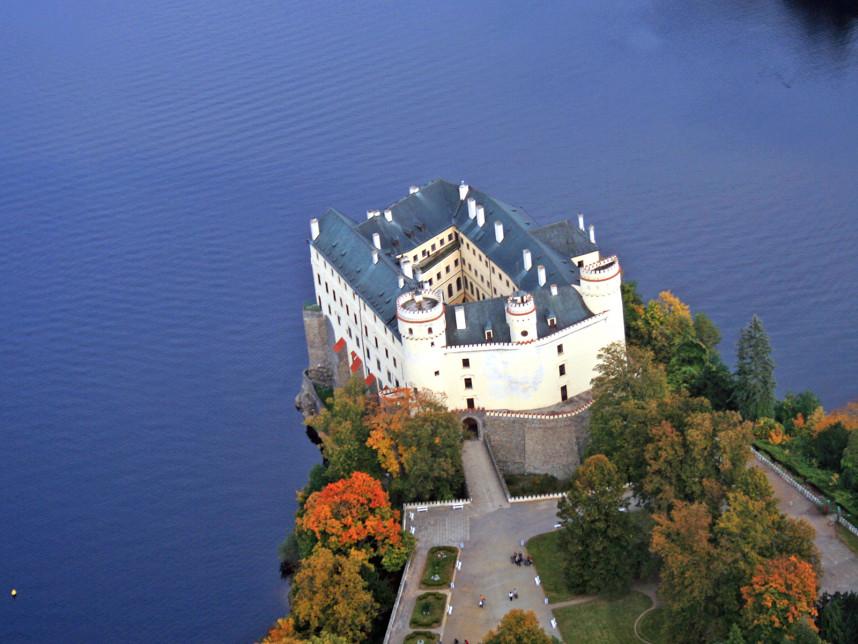 Замок Орлик сверху