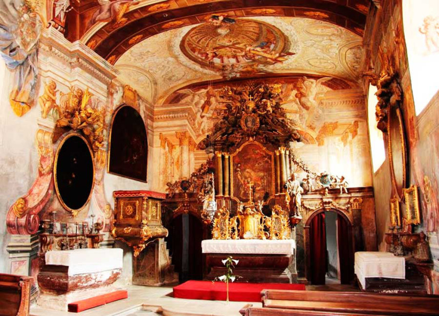 Замок Пернштейн внутри