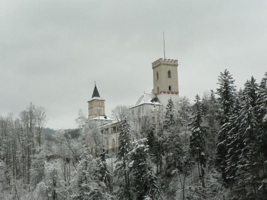 Замок Розенберг зимой