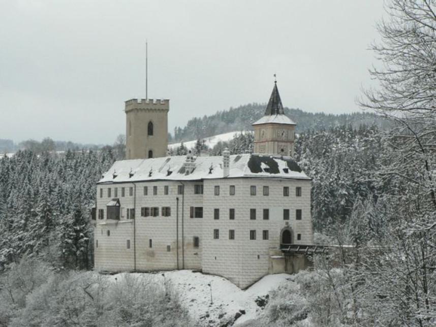 Заснеженный Замок Розенберг