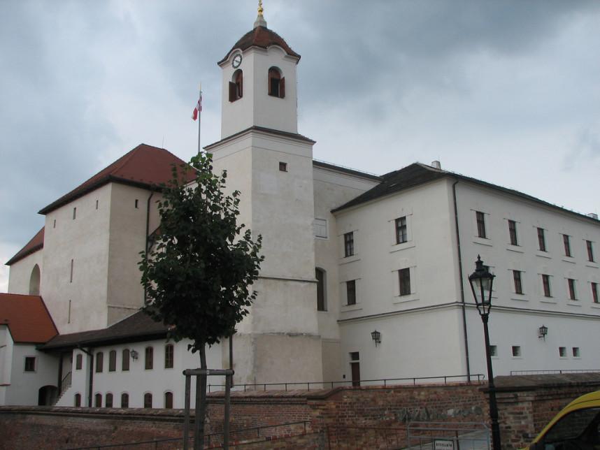 Фасад замка Шпильберг
