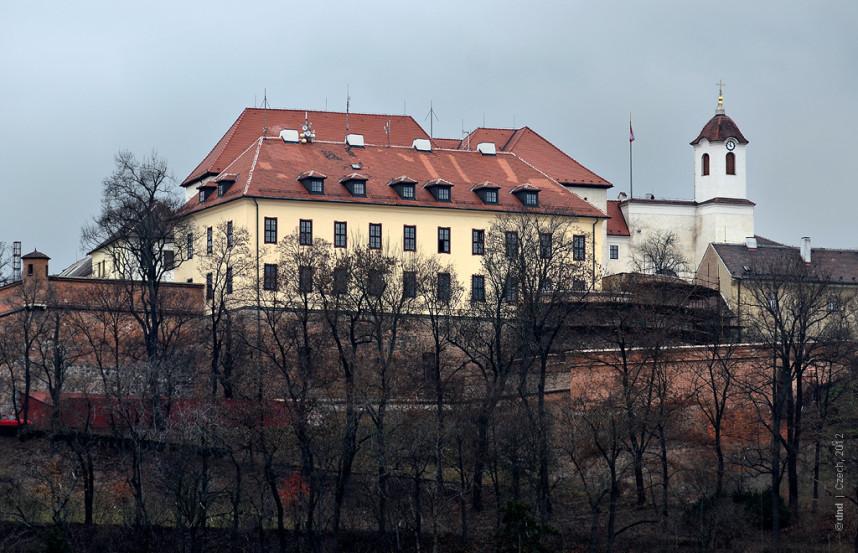 Вид на замок Шпильберг