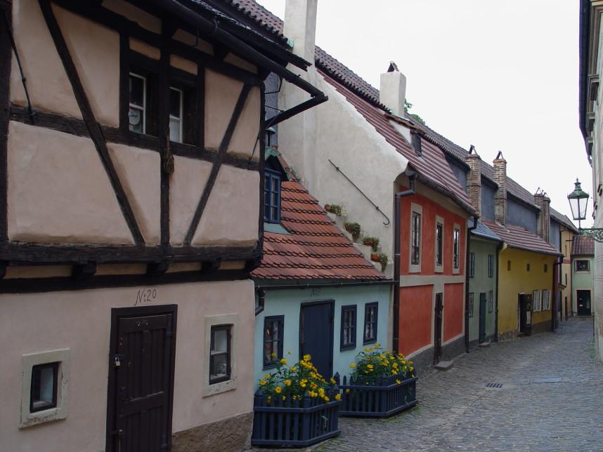 Разноцветные дома Золотой улочки