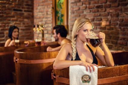 Где можно принять пивные ванны в Чехии?