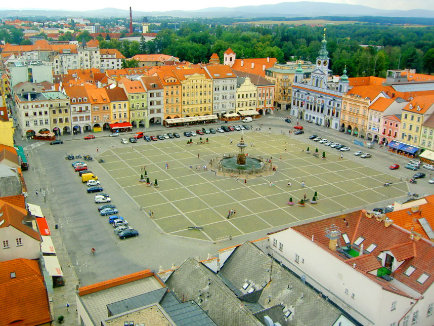 Главная площадь Ческе-Будеёвице
