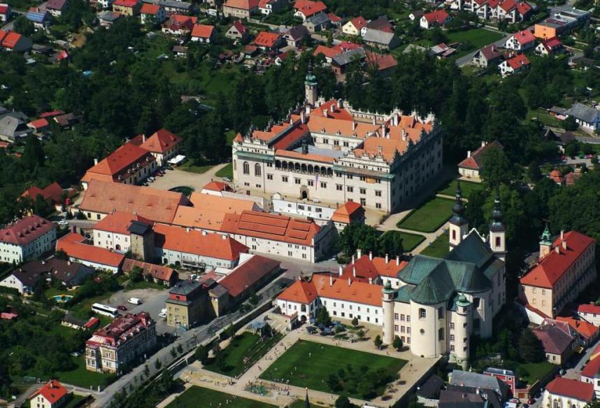 Замок Литомышль сверху