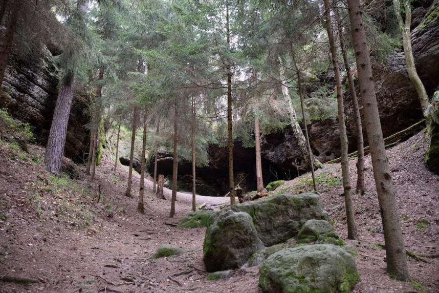 Пещеры Braniborská jeskyně