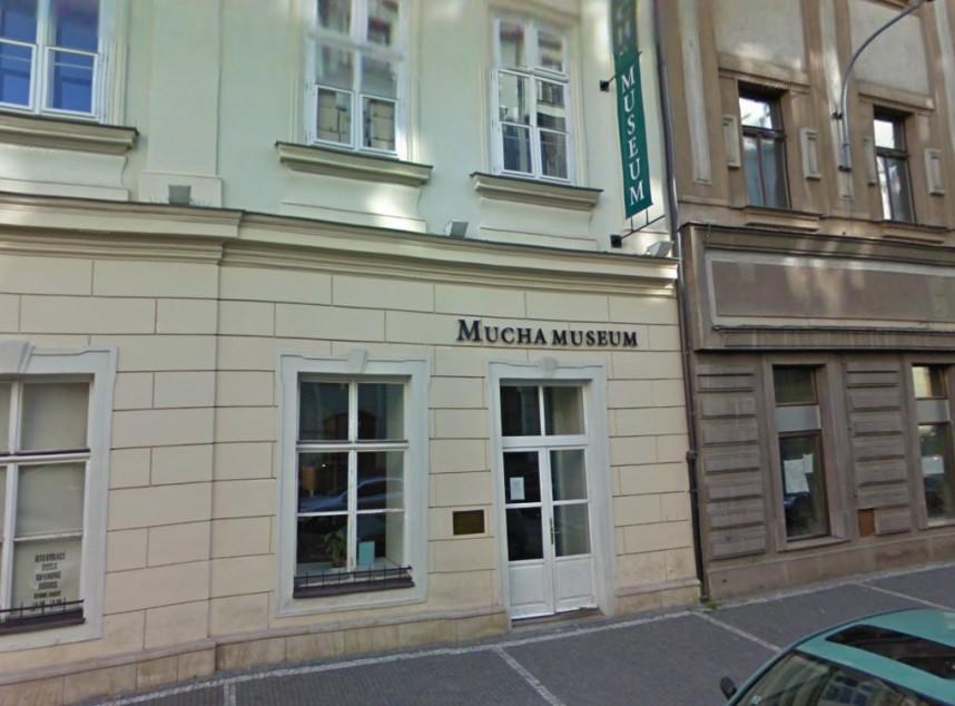 Вход в Музей Альфонса Мухи