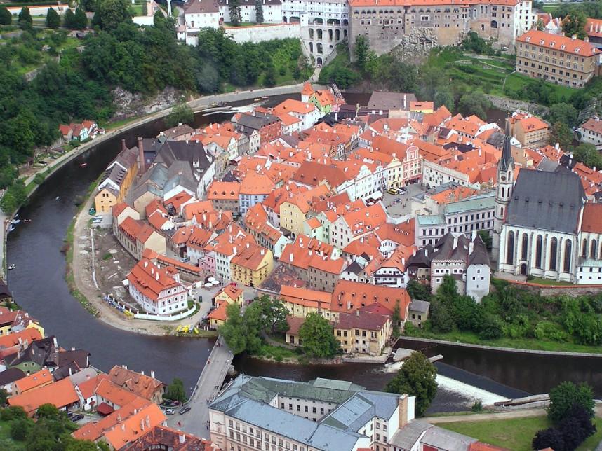 Чешский Крумлов сверху