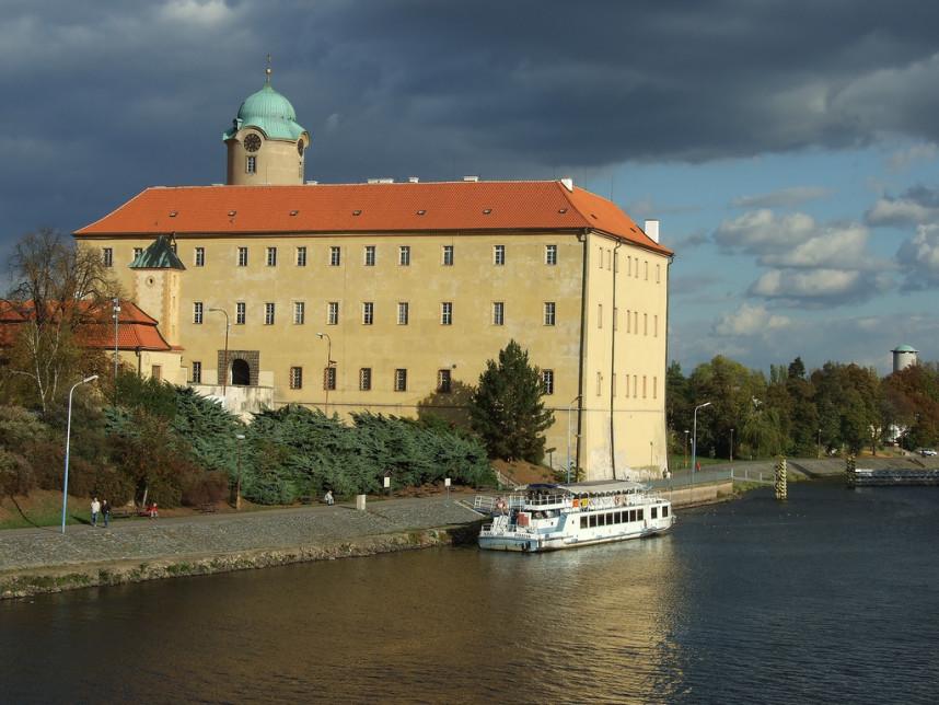 Вид на замок в Подебрадах