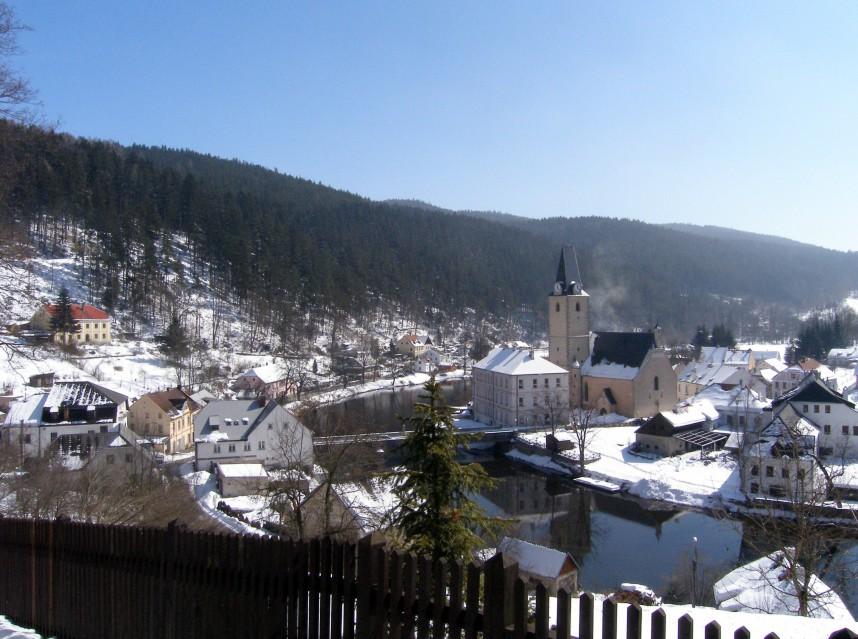 Рожмберк-над-Влтавоу Зимой