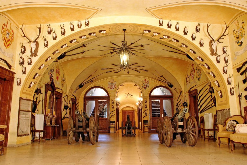 Замок Детенице внутри